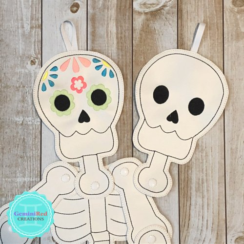 Skeleton Skull Door Hanger