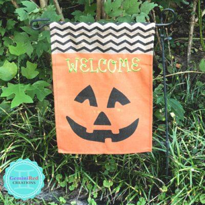 Pumpkin Welcome Garden Flag