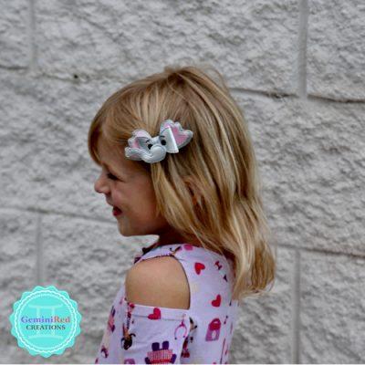 Elephant Bow Hair Clip