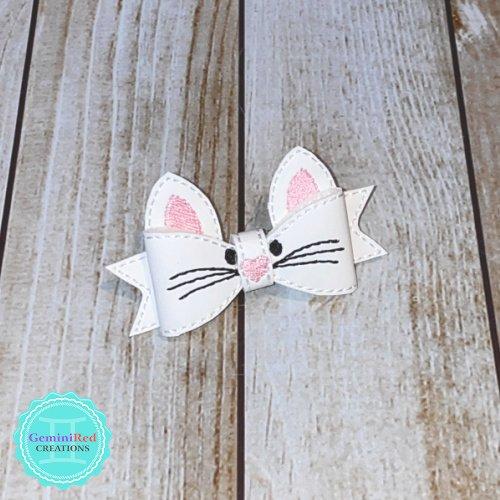 Kitten Bow Hair Clip