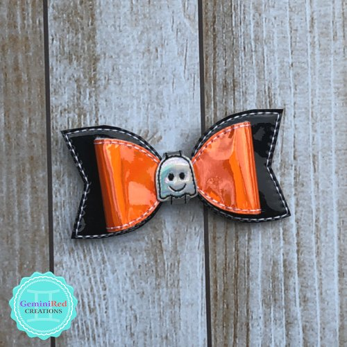 Mini Ghost Bow Hair Clip