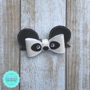 Panda Bow Hair Clip