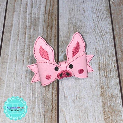 Piggy Bow Hair Clip