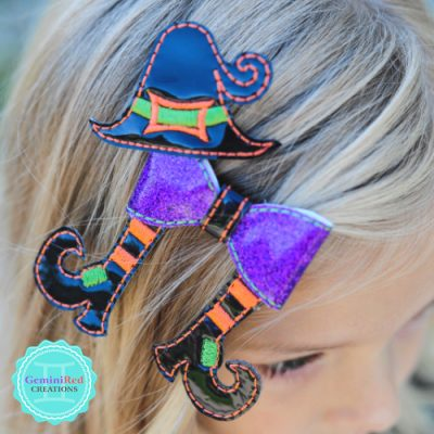 Witch Bow Hair Clip