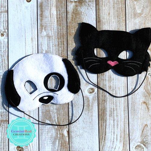 Black Cat and Dog Mask