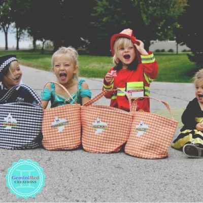Halloween Gingham Trick or Treat Buckets