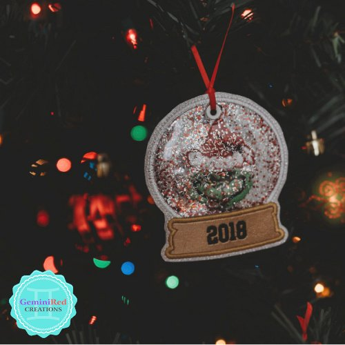 Mean One Embroidered Snow Globe Ornament
