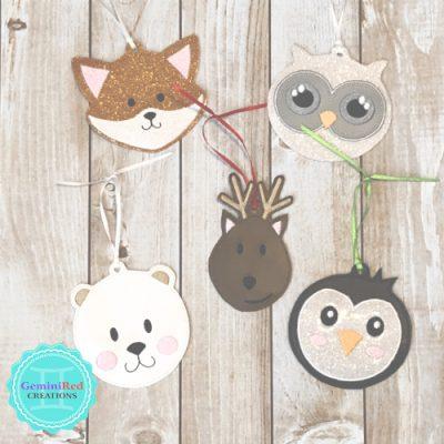 Winter Wonderland Animal Christmas Ornaments