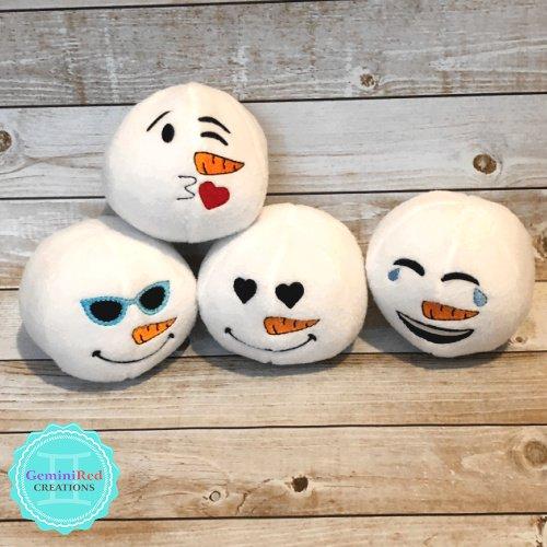 Fleece Emoji Snowballs