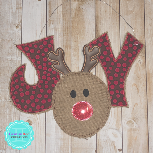 Rudolph JOY Door Hanger
