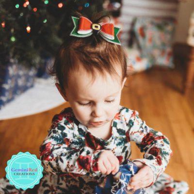 Santa's Belt Hair Bow