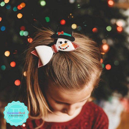 Snowgirl Hair Bow