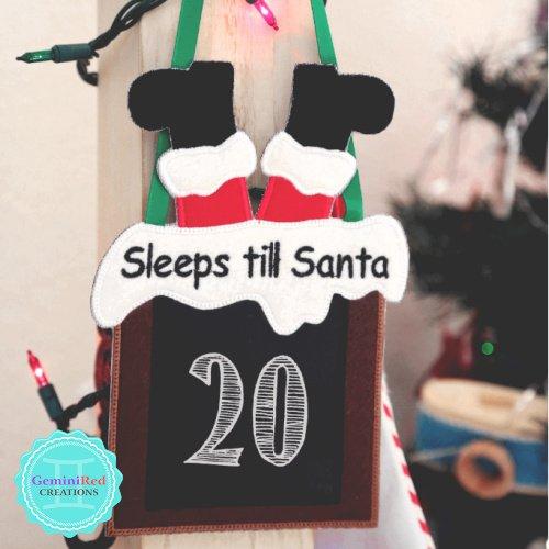 Sleeps Till Santa Countdown