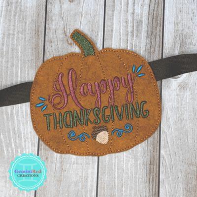 Thanksgiving Pumpkin Banner Piece