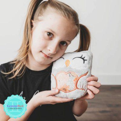 Owl Heart Softie - Girl