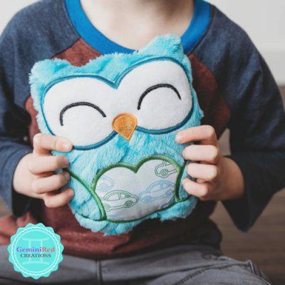 Owl Heart Softie - Boy