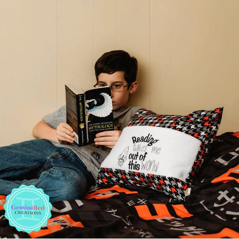 Reading Out of this World Book Pillow Cover