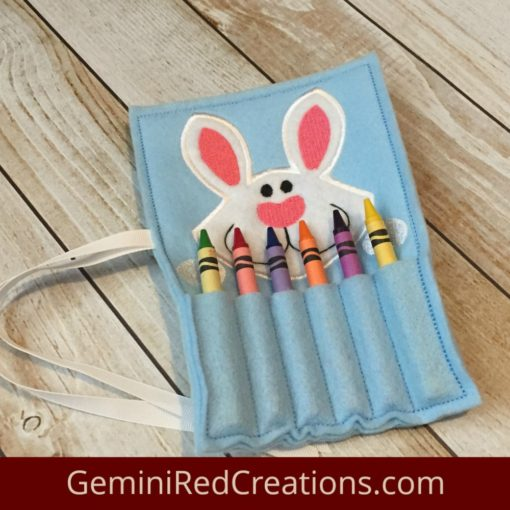 Bunny Crayon Holder {with ribbon closure}
