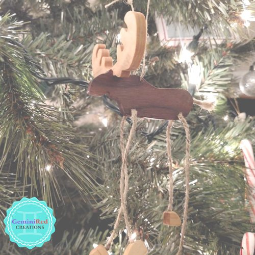 Hand-carved Moose Ornament {Wickedly Wooden}