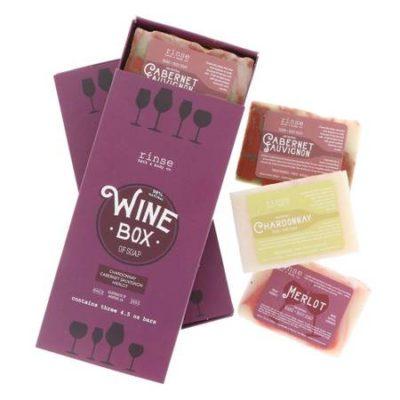 Rinse Bath & Body - Box of Wine Soap