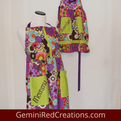 Handmade Apron Mother-Daughter Set