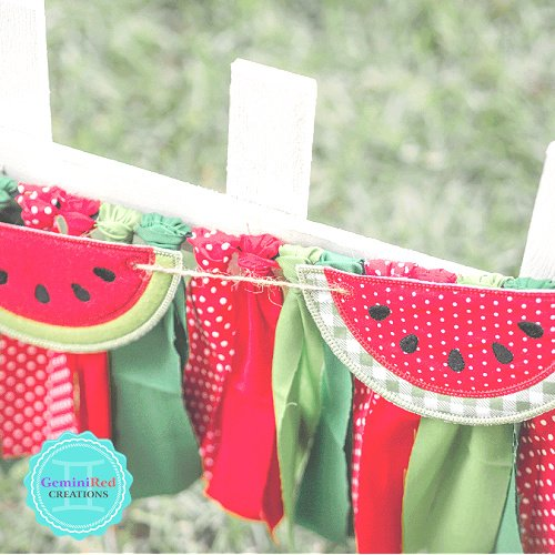 Watermelon Slice Banner Piece
