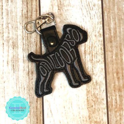 Dog Breed - Cane Corso Embroidered Vinyl Key Fob