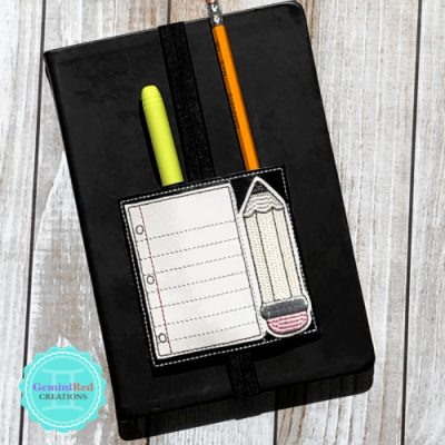 Notebook Paper & Pencil Planner Book Band