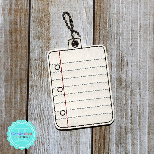 Notebook Paper Bag Tag Hall Pass