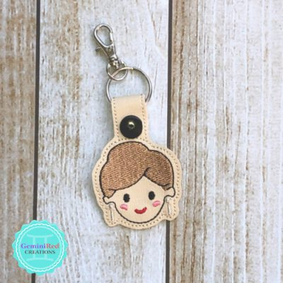 Golden Girls Blanche Embroidered Key Fob