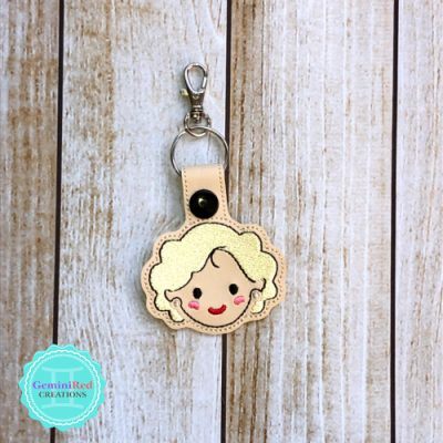 Golden Girls Rose Embroidered Key Fob