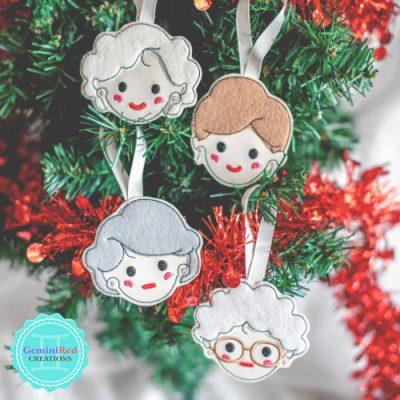Golden Girls Christmas Ornament
