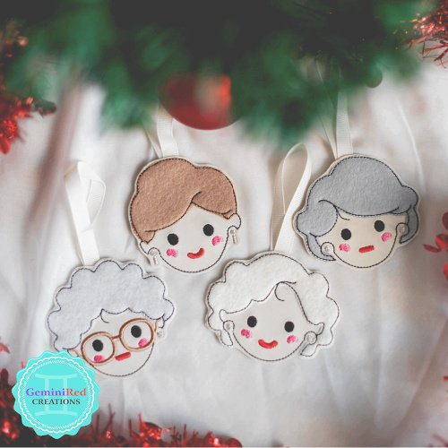 Golden Girls Christmas Ornament