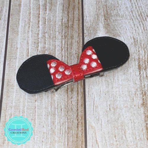 Mouse Ears & Bow Hair Clip