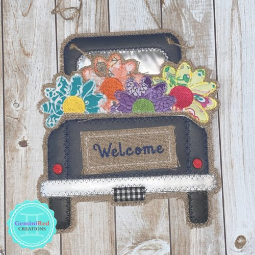 Vintage Truck Door Hanger - Flower Pieces