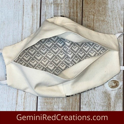 Fabric Contoured Face Mask with Filter Pocket