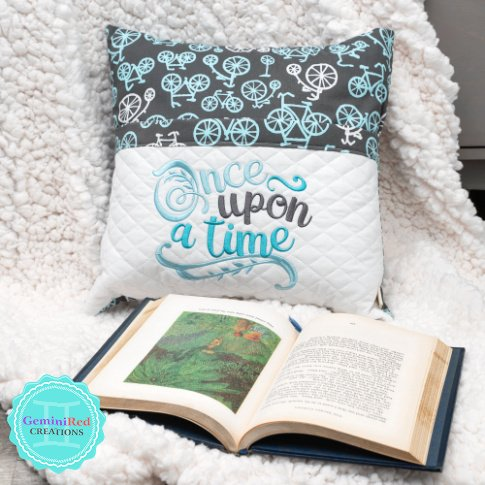 Book Quote Word Art Reading Pillow Cover