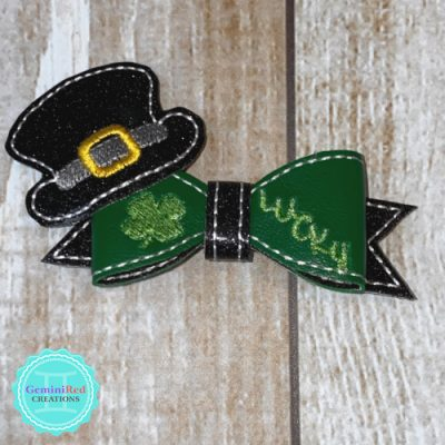Lucky Leprechaun Bow Hair Clip