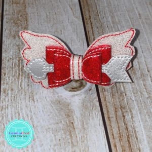 Cupid's Arrow Bow Hair Clip