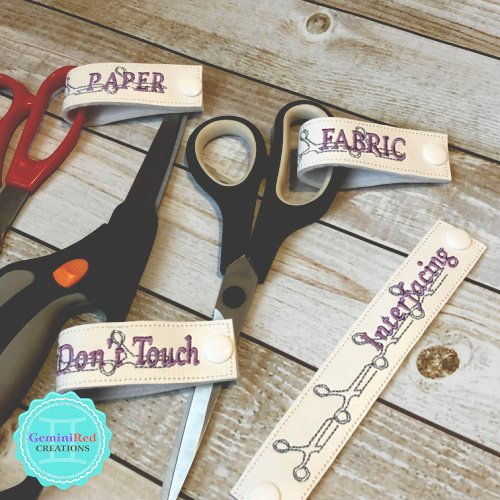 Embroidered Scissor Tags {Long}