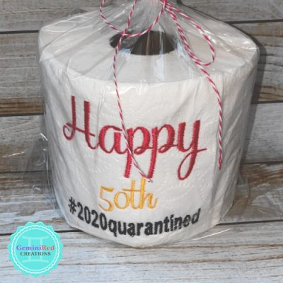 Embroidered Toilet Paper {Custom}