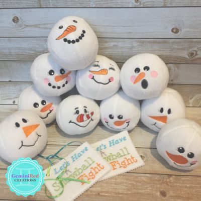 Fleece Plush Snowball {Option 2}