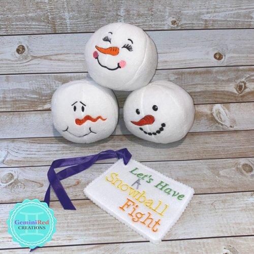 Fleece Plush Snowball {Option 3}