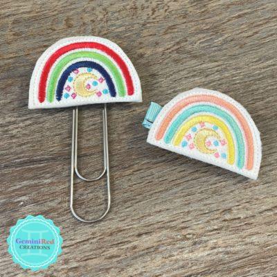 Boho Rainbow Feltie Hair Clip