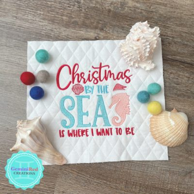 Christmas by the Sea Pillow Cover